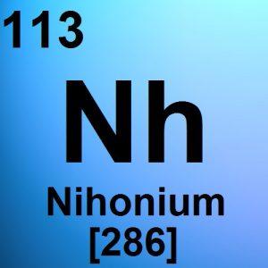 Le nihonium entre dans le tableau périodique de Mendeleïev