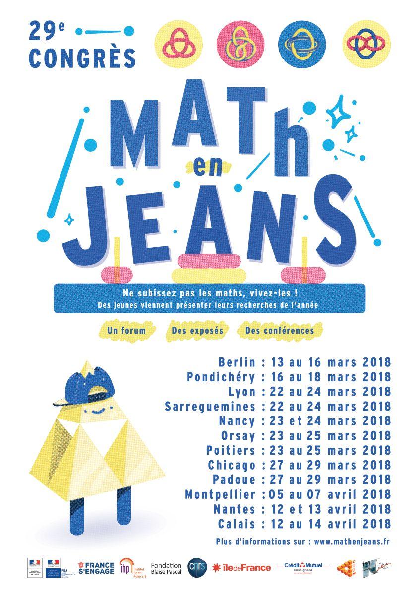 Congrès MATh.en.JEANS 2018 du 12 au 14 avril à Calais