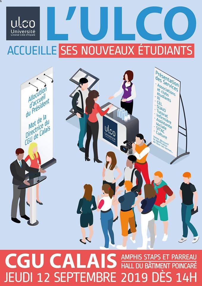 Accueil des nouveaux et nouvelles étudiant.e.s à Calais